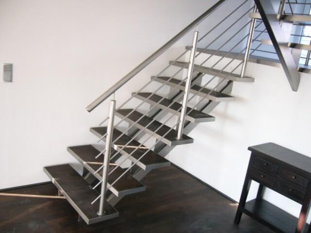 treppe holz edelstahl roland terwort gmbh co kg. Black Bedroom Furniture Sets. Home Design Ideas